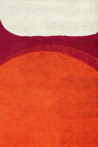 overhead of sunrise rug by dinosaur designs