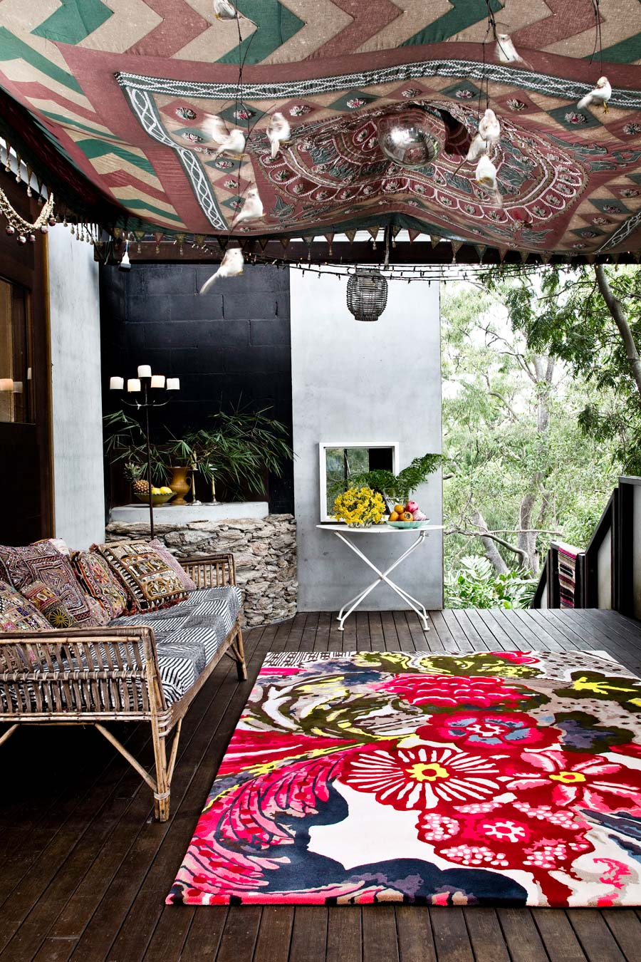 location living room of arcadia rug by easton pearson