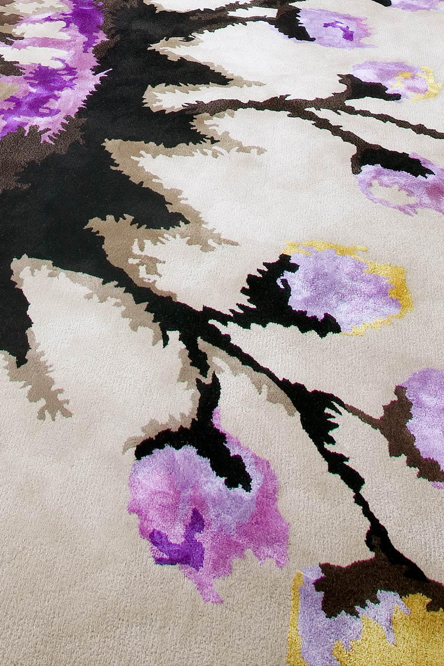 close up of moon shadow rug by easton pearson