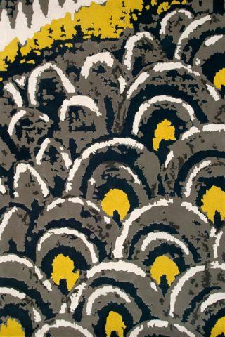 overhead of night walk rug by easton pearson