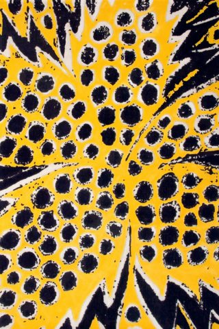 overhead of pollen rug by easton pearson