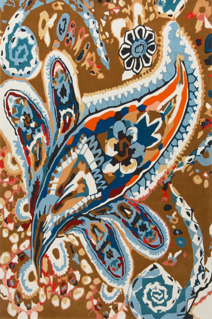 overhead of spanish almond rug by easton pearson
