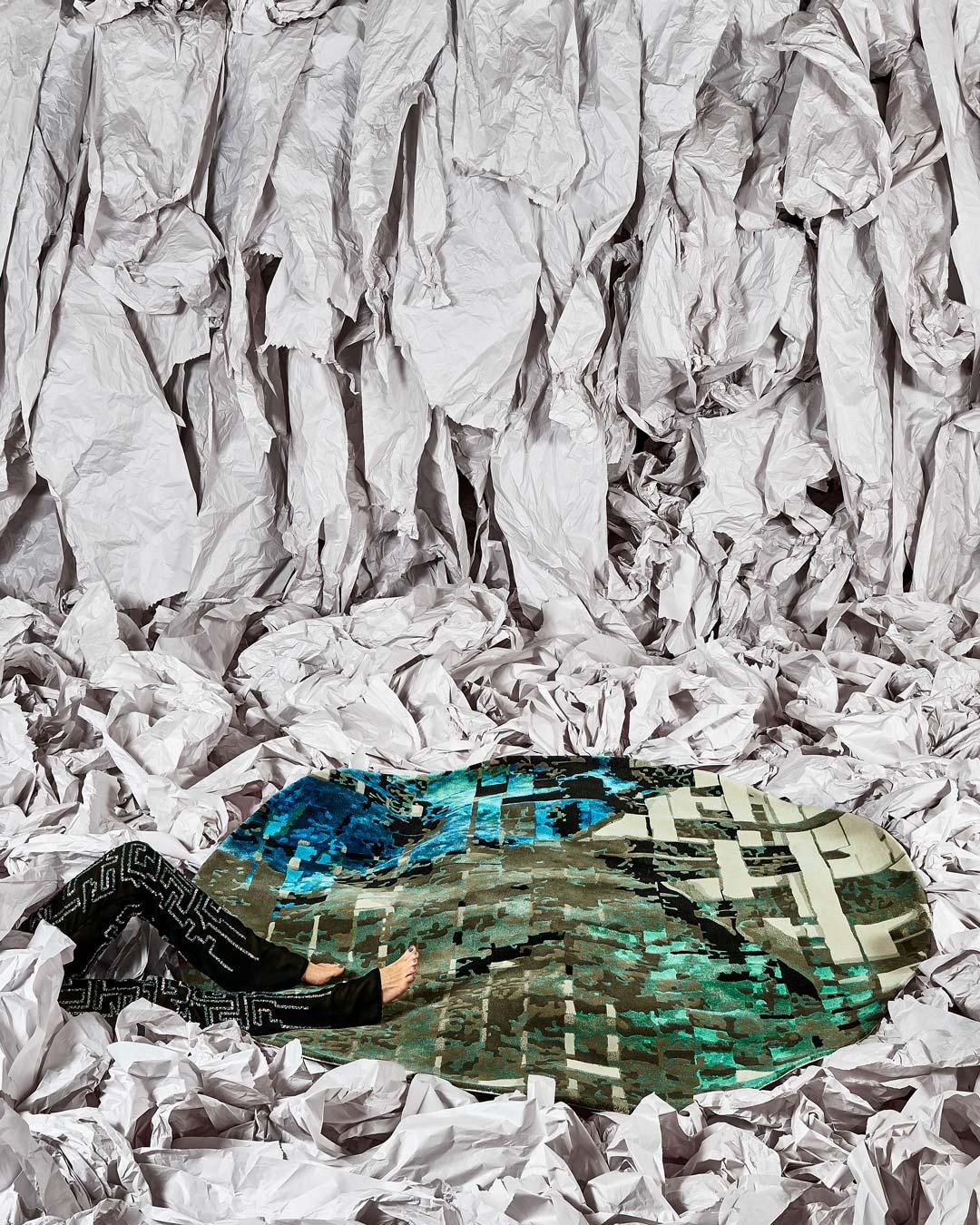 location shot of farfalla rug by emma elizabeth designs