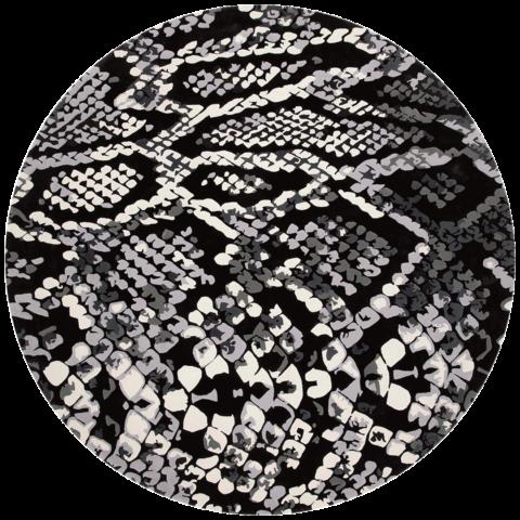 overhead of medusa rug by emma elizabeth designs round snake print