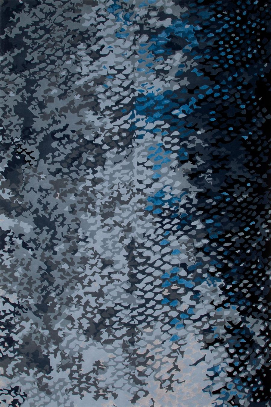 overhead of pisces rug by emma elizabeth designs blue fish scales