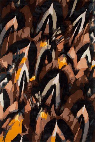 overhead of plumage rug by emma elizabeth designs