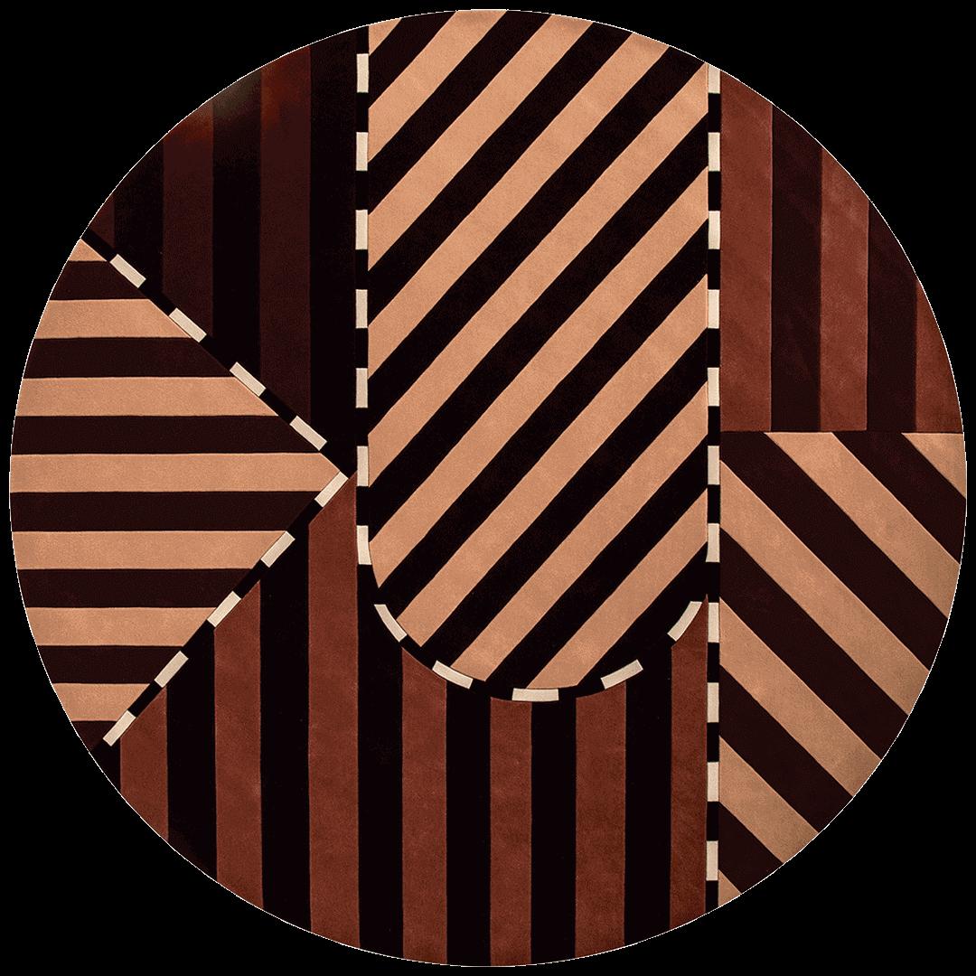 overhead of figgoscope round rug evolve collection