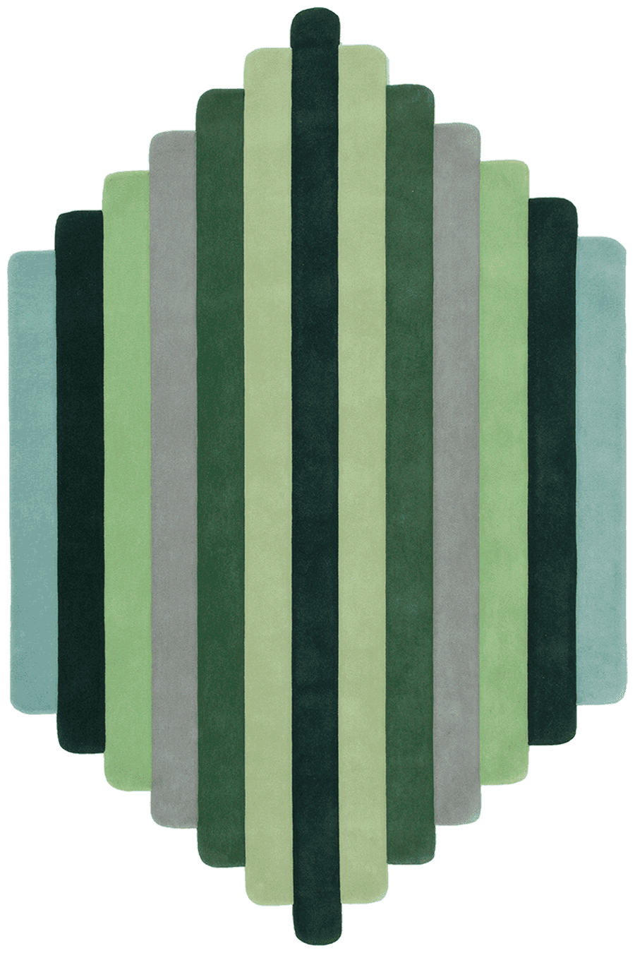 overhead of lateral rug by gavin harris