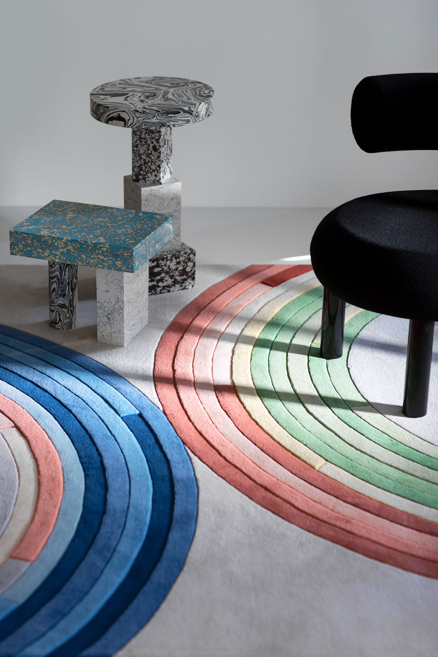 close up of magnetic rug by gavin harris