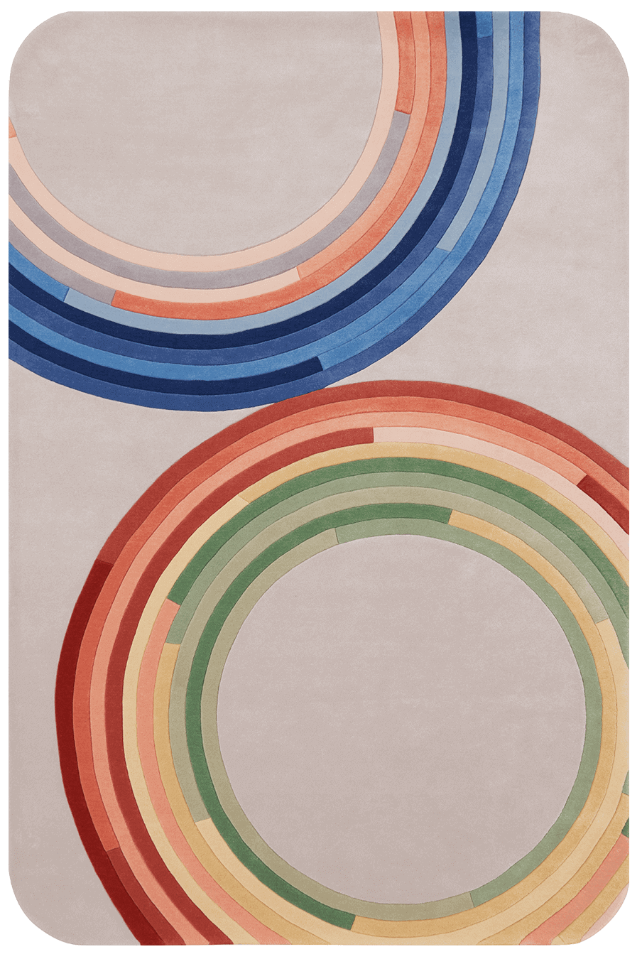 overhead of magnetic rug by gavin harris