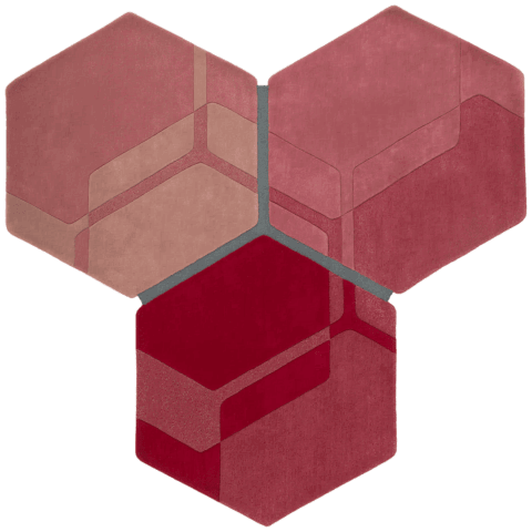 overhead of molecule rug by gavin harris