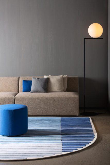 location living room shot of thermal rug by gavin harris