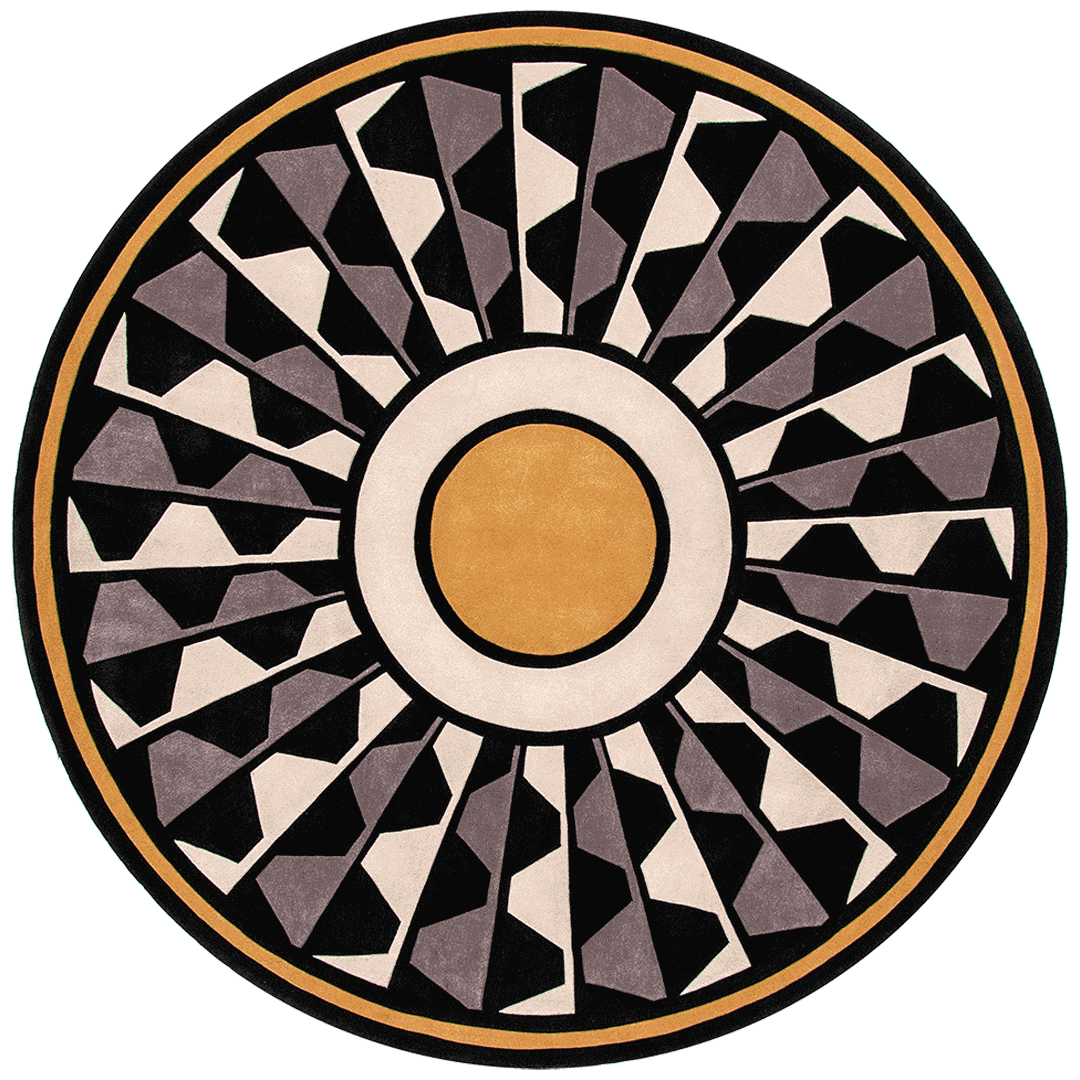 overhead of central park round rug by greg natale