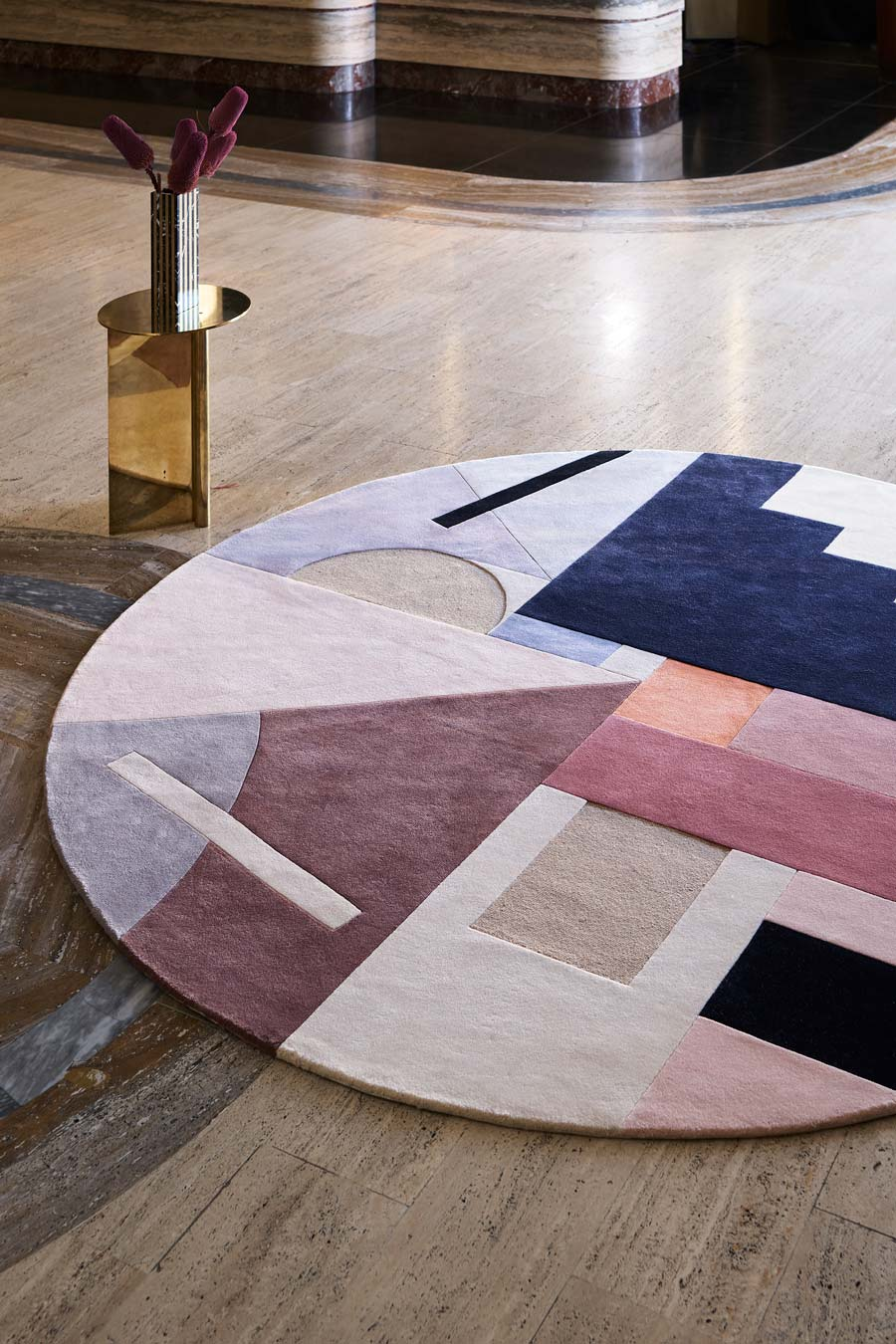 location shot of delaunay rug by greg natale