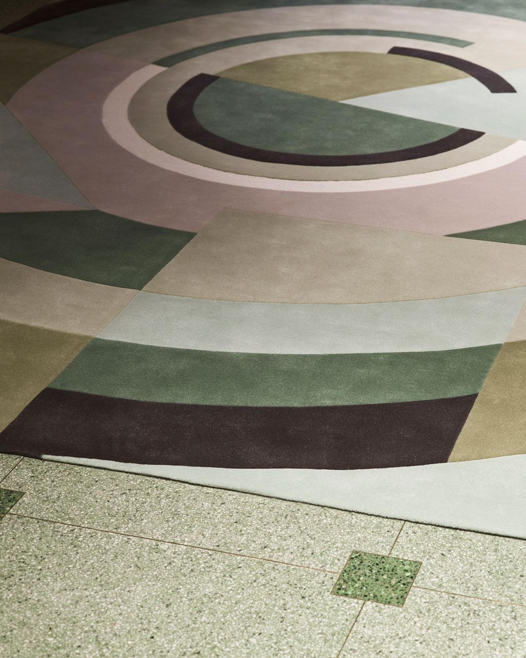 close up of despres rug by greg natale