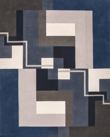 overhead of dunand rug by greg natale