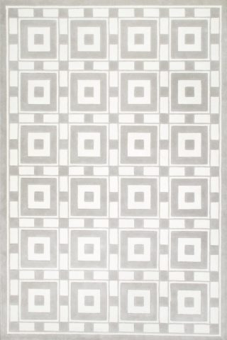 overhead of lake como rug by greg natale light grey geometric