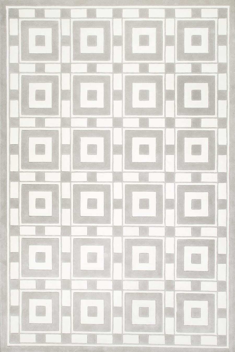 overhead of lake como rug by greg natale light grey geometric