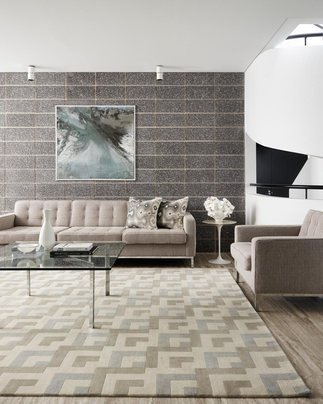 location living room shot of los angeles rug by greg natale