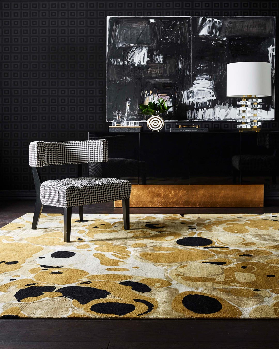 location shot of ink rug by greg natale
