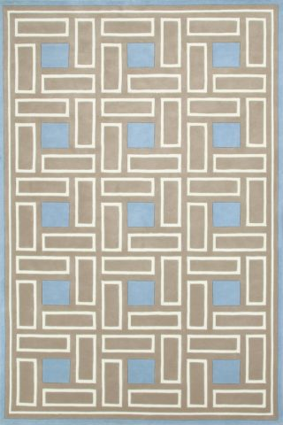 overhead of malibu rug by greg natale