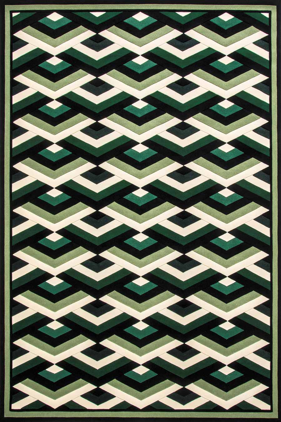 overhead of moscow rug by greg natale