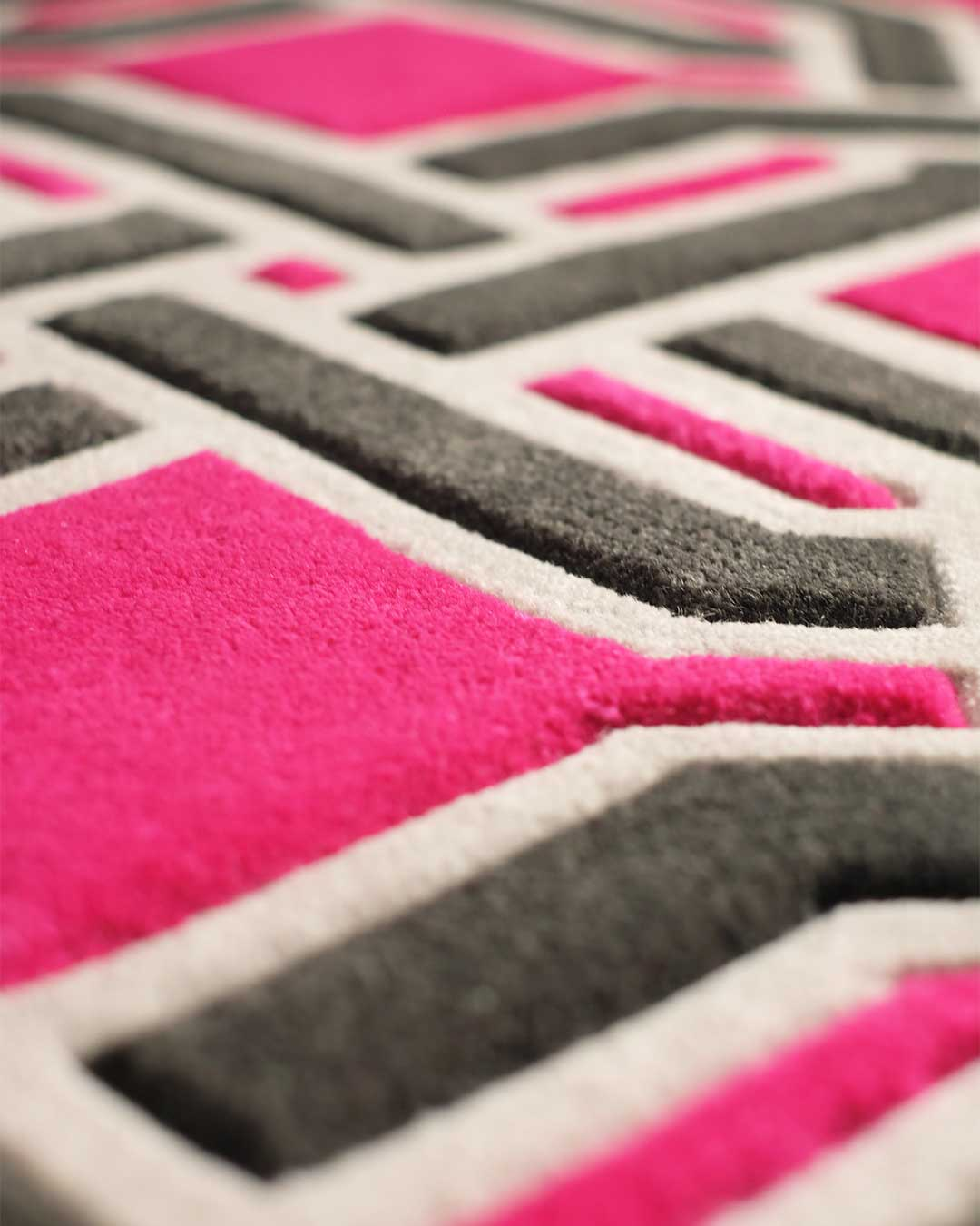 Close up of oxford rug by greg natale