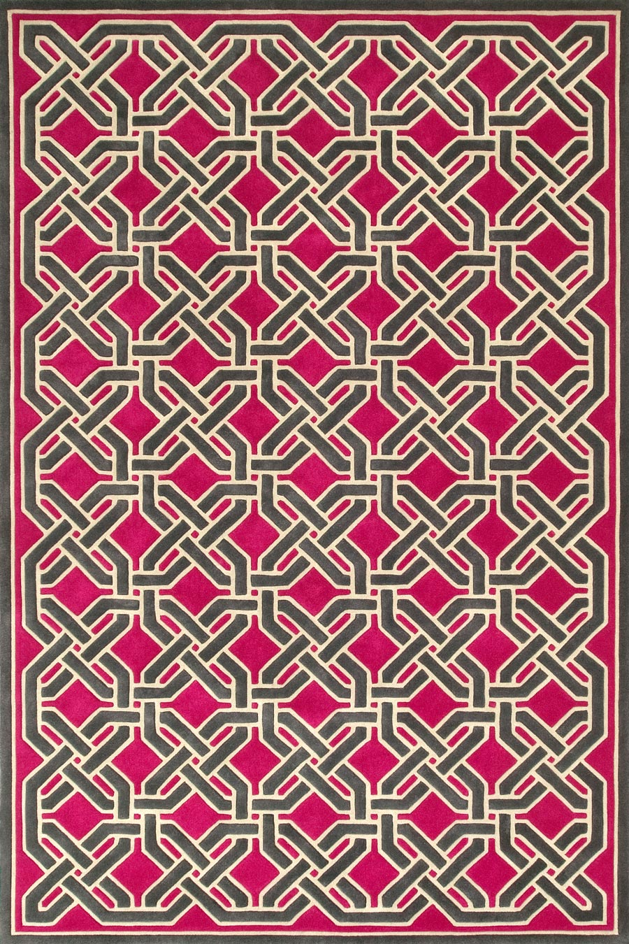 overhead of oxford rug by greg natale