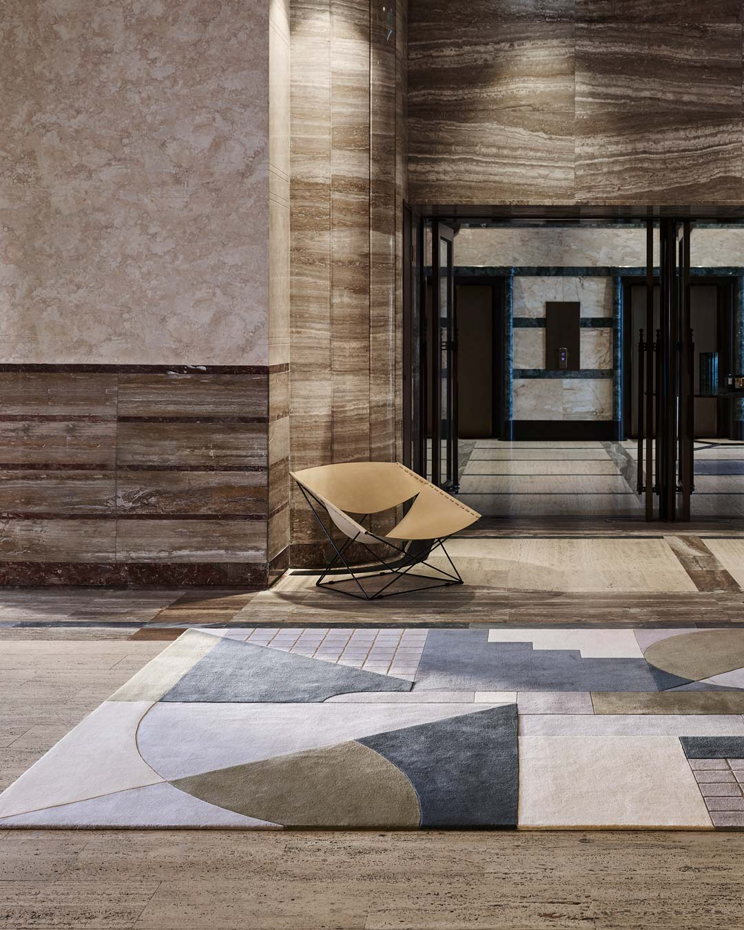 location shot of rateau rug by greg natale