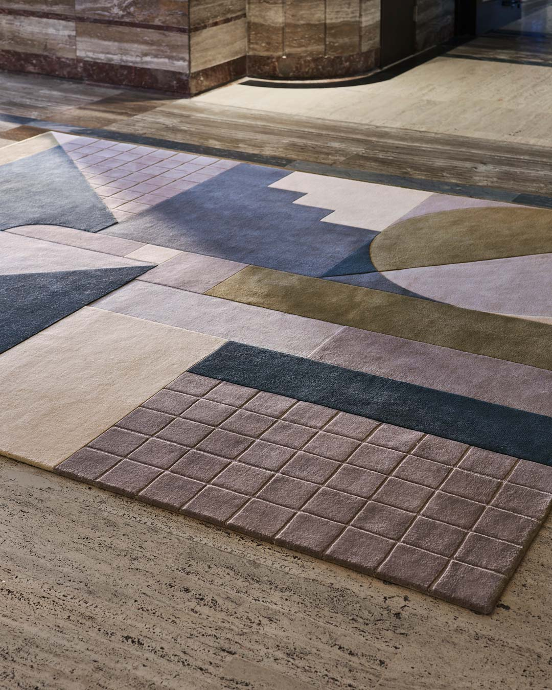 close up shot of rateau rug by greg natale