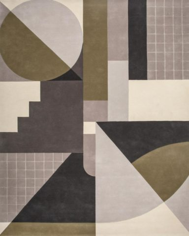 overhead of rateau rug by greg natale