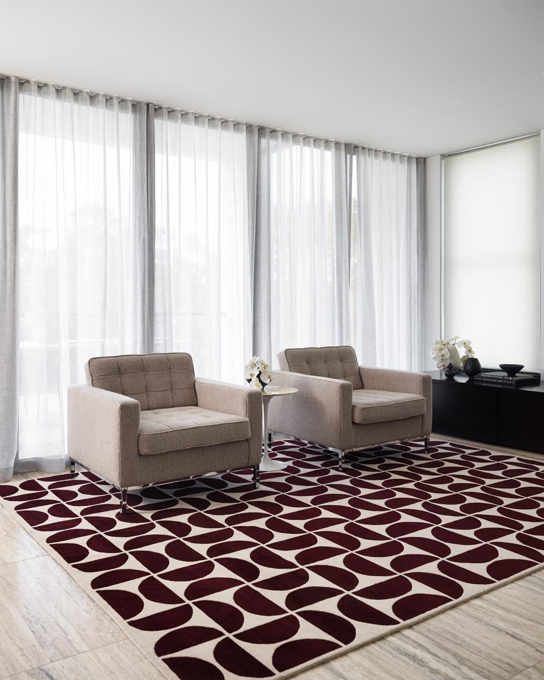 location living room of rio rug by greg natale
