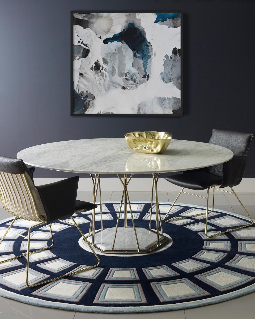 dining room location of roma rug by greg natale