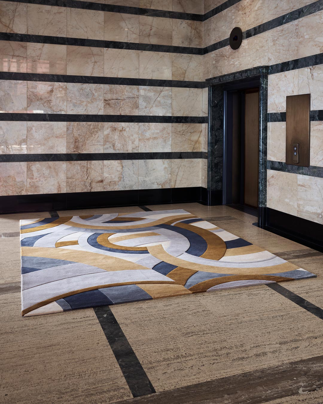 location shot of ruhlmann rug by greg natale