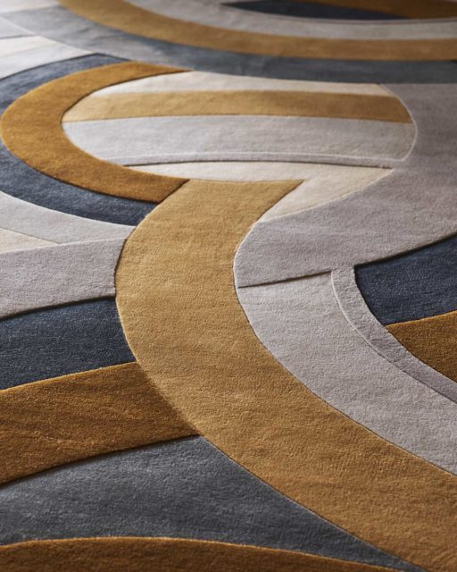 close up of Ruhlmann rug by Greg Natale