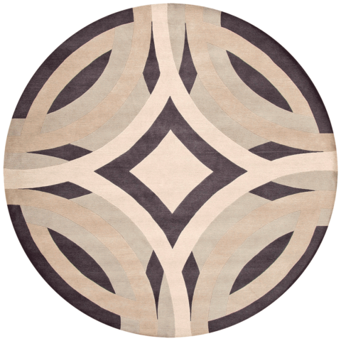 overhead of saint tropez round rug by greg natale