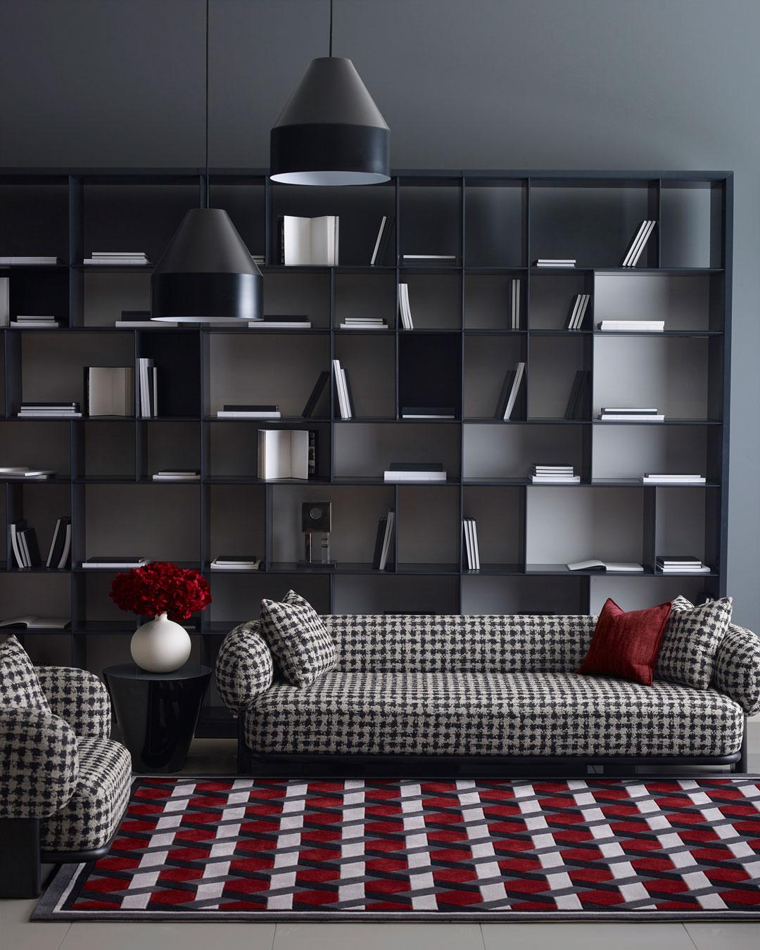 location living room shot of siena rug by greg natale