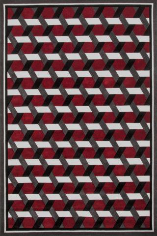 overhead of siena rug by greg natale