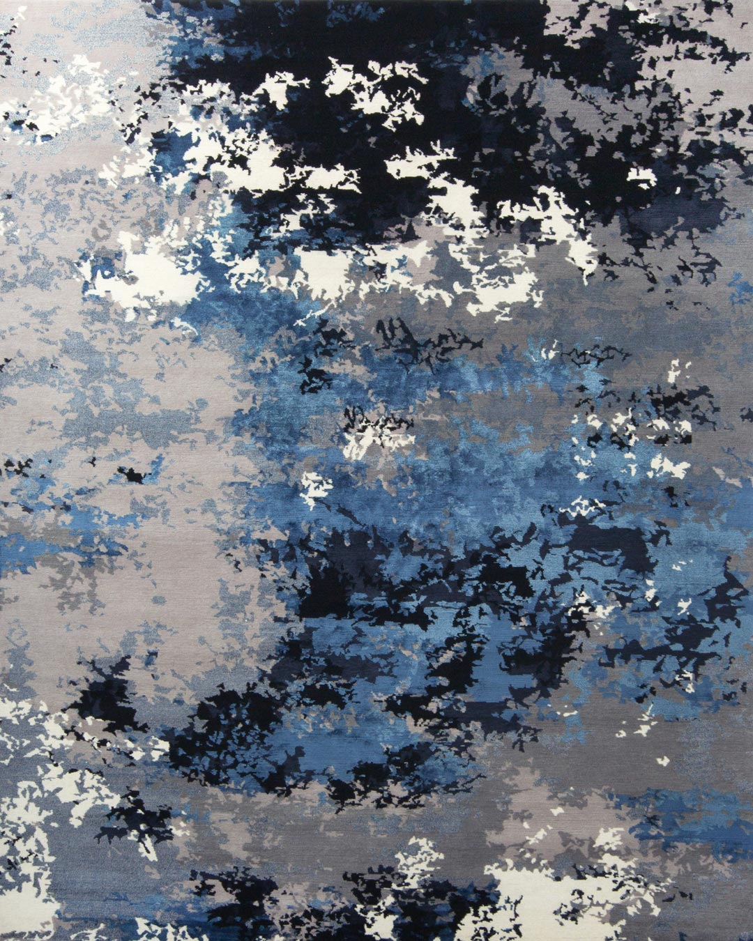 overhead of vapour rug by greg natale