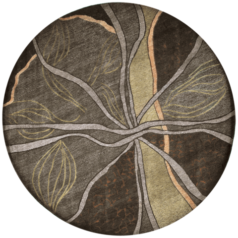Overhead image of organic Erosion rug by Hare and Klein in green colour