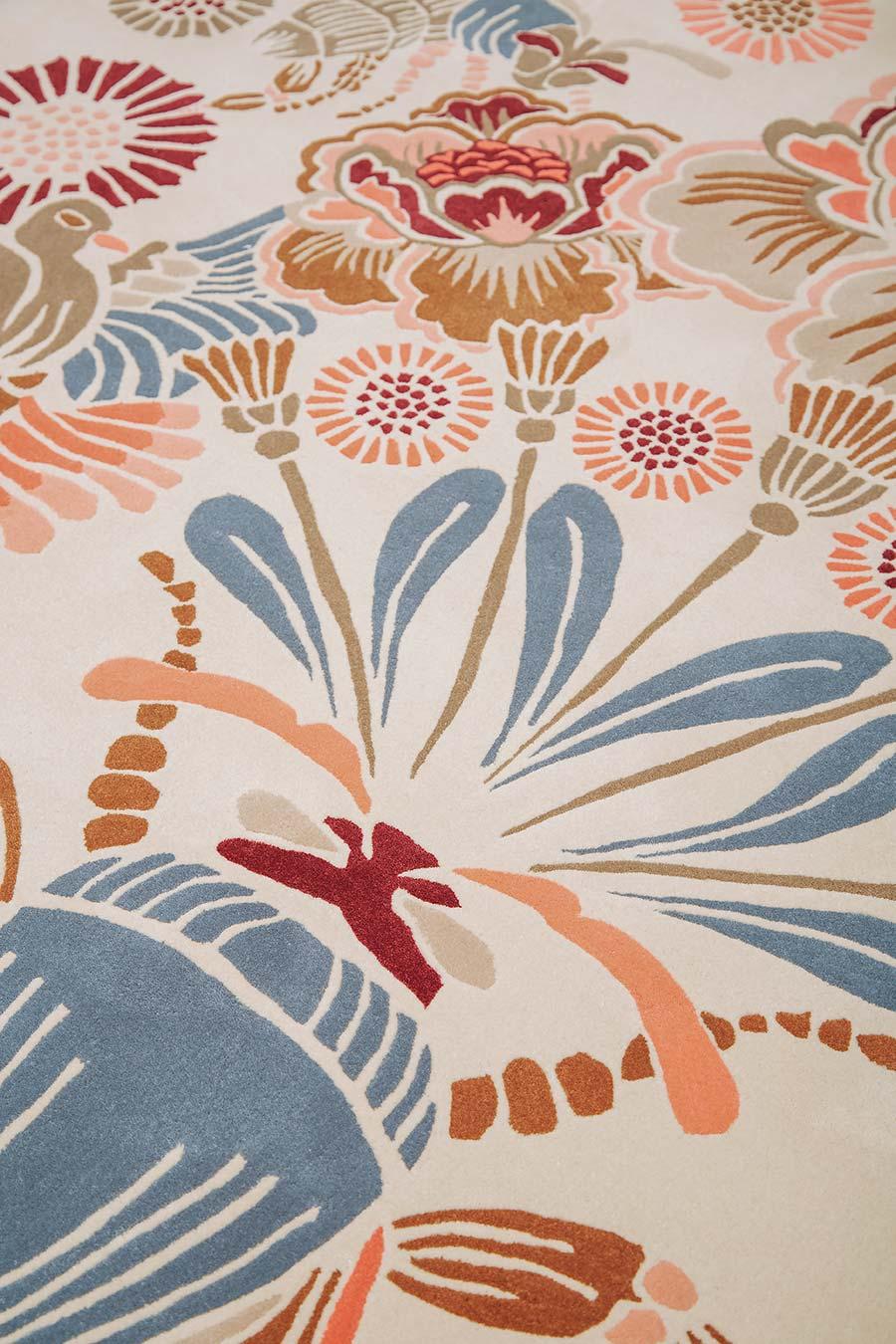Detailed image of floral Honeybee rug by House Of Heras