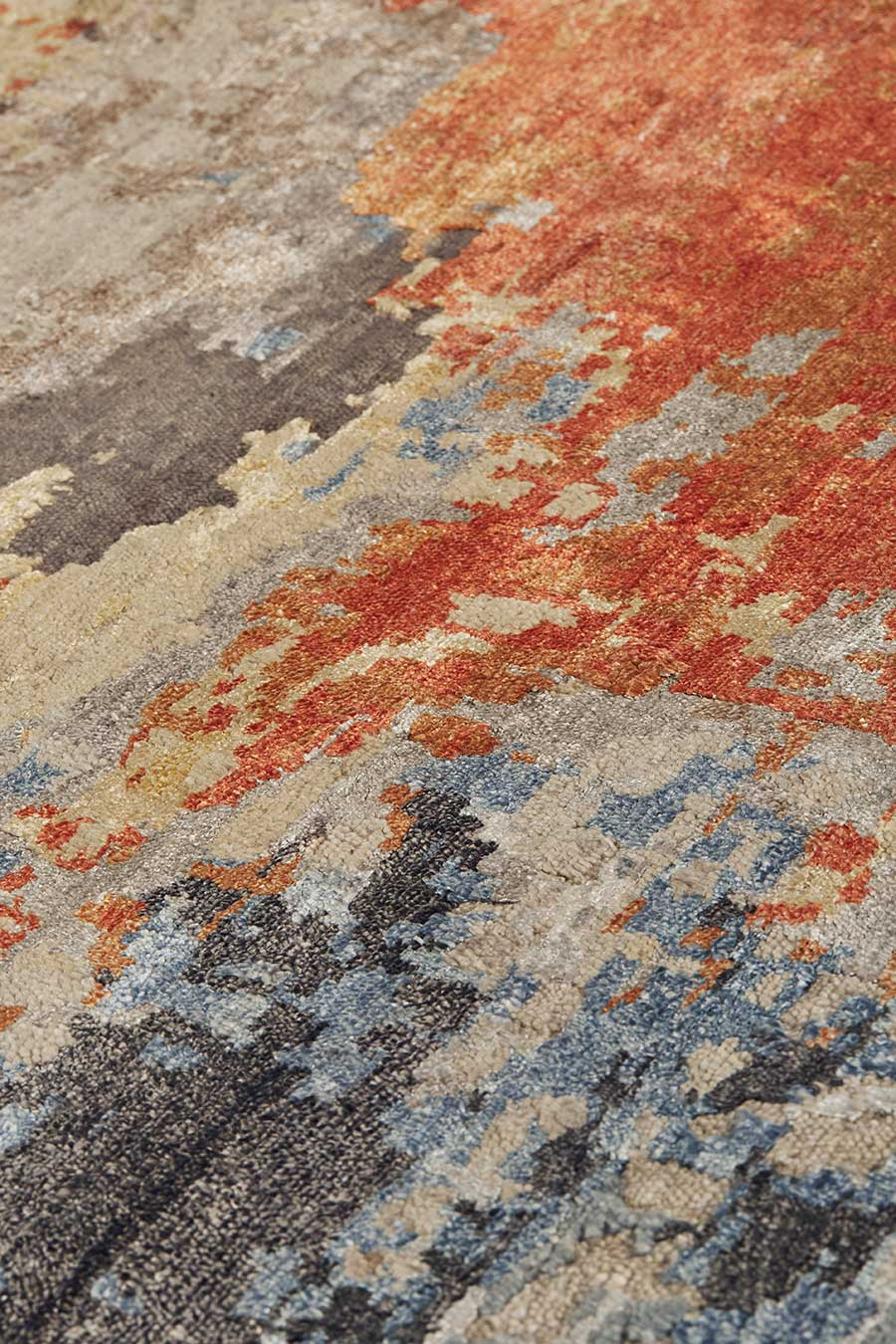 Detailed image of multi coloured Agate rug