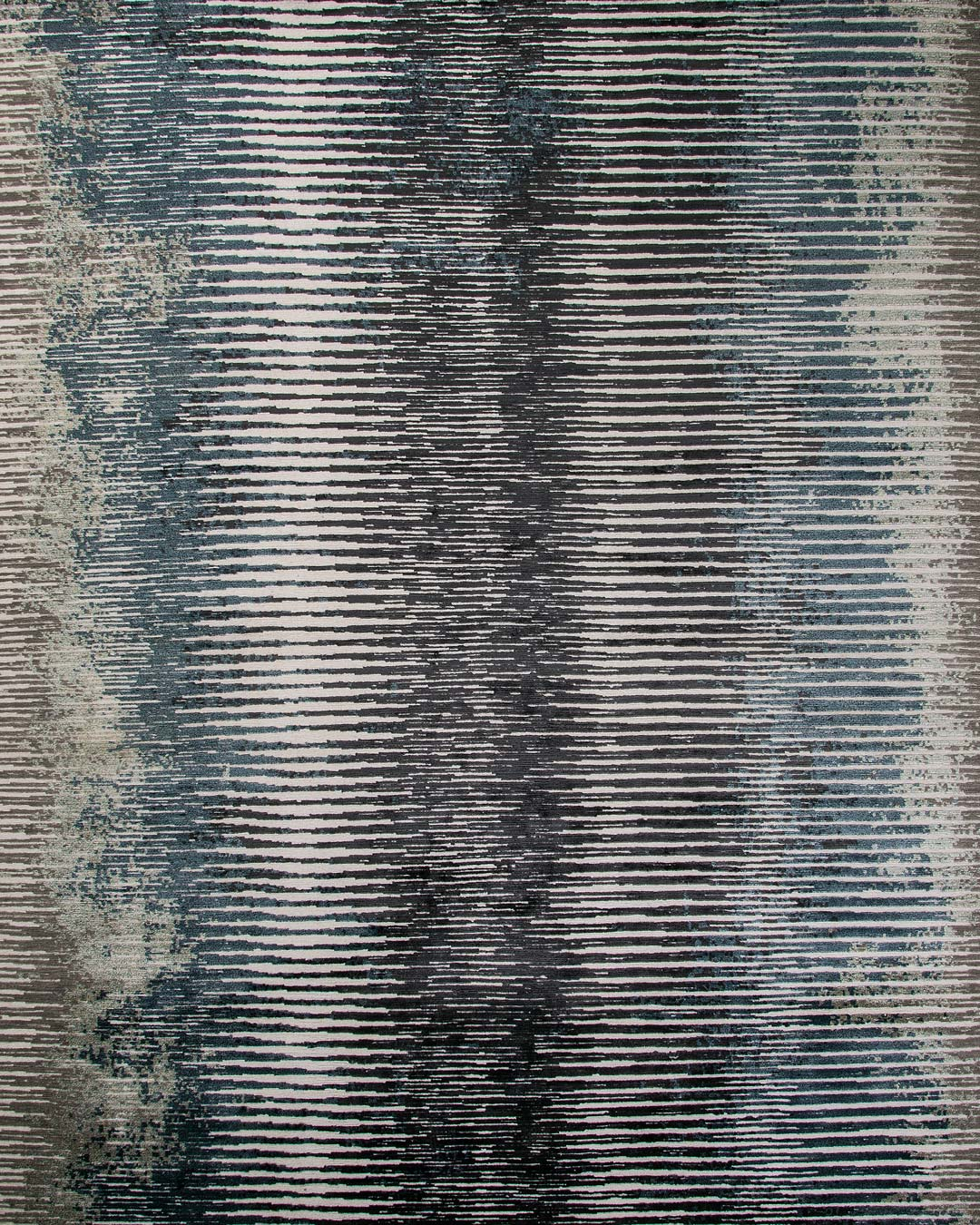 Overhead image of textural Alba rug in grey colour