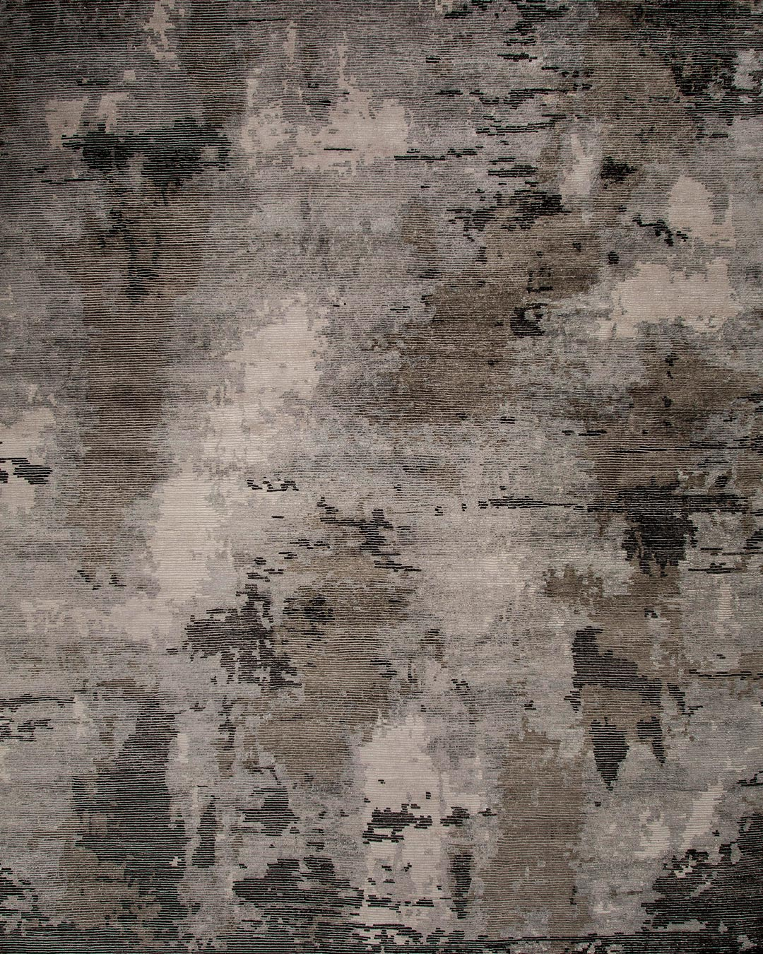 Overhead image of textural Christobel rug in charcoal colour