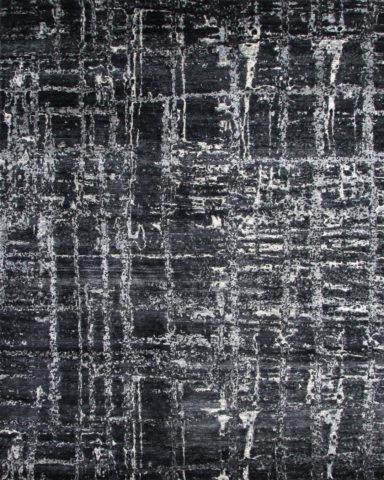 Product image of abstract Cityscape rug in black colour