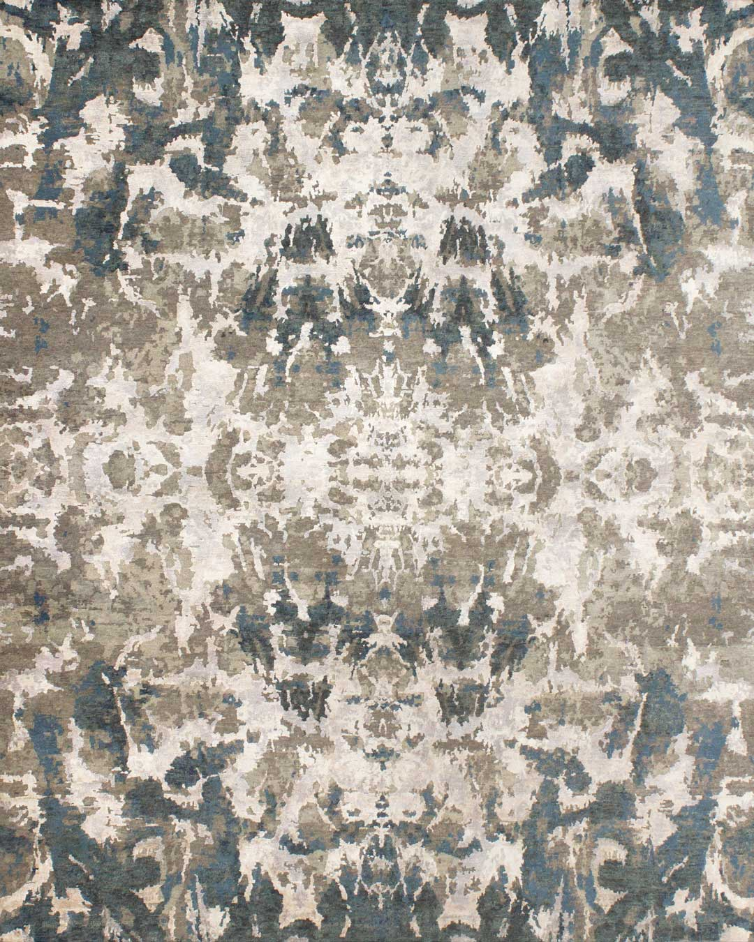 Overhead image of classic Dancers rug in beige colour