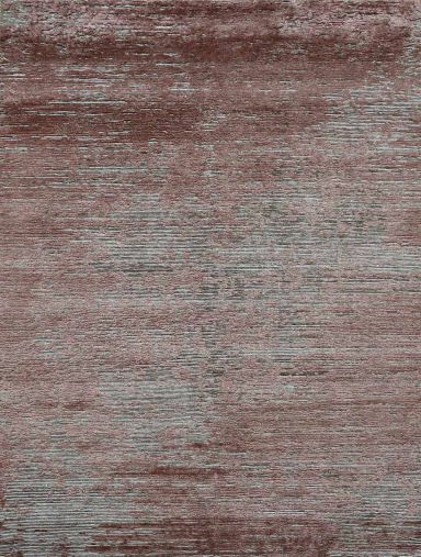 Overhead view of textured Dolomite rug in purple grey colour