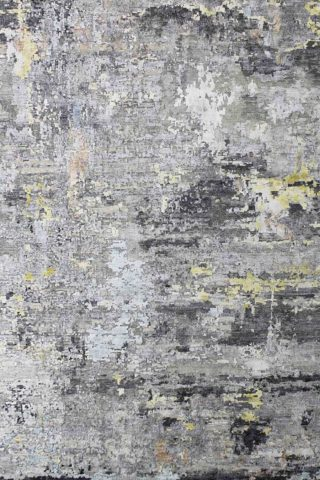 Overhead view of Frascati textured rug in grey colour