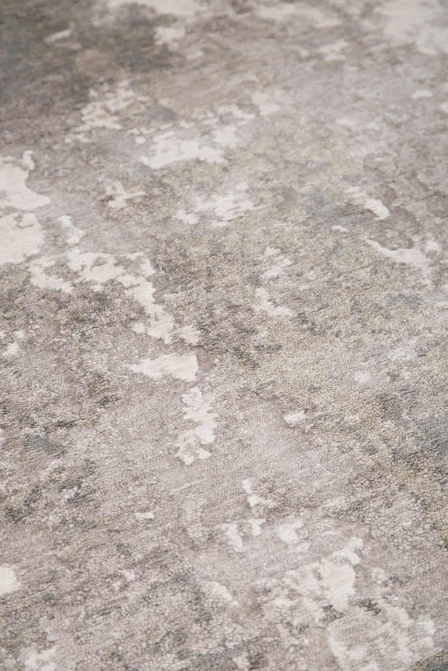 Detailed view of Gemini rug in grey colour