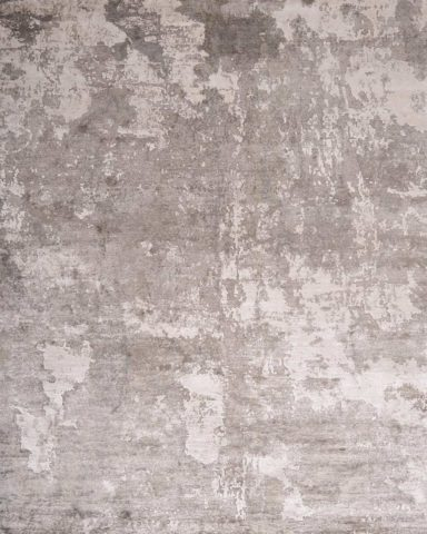 Overhead view of Gemini rug in grey colour